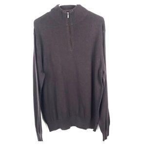 Alan Flusser Large Classic Half Zip Sweater